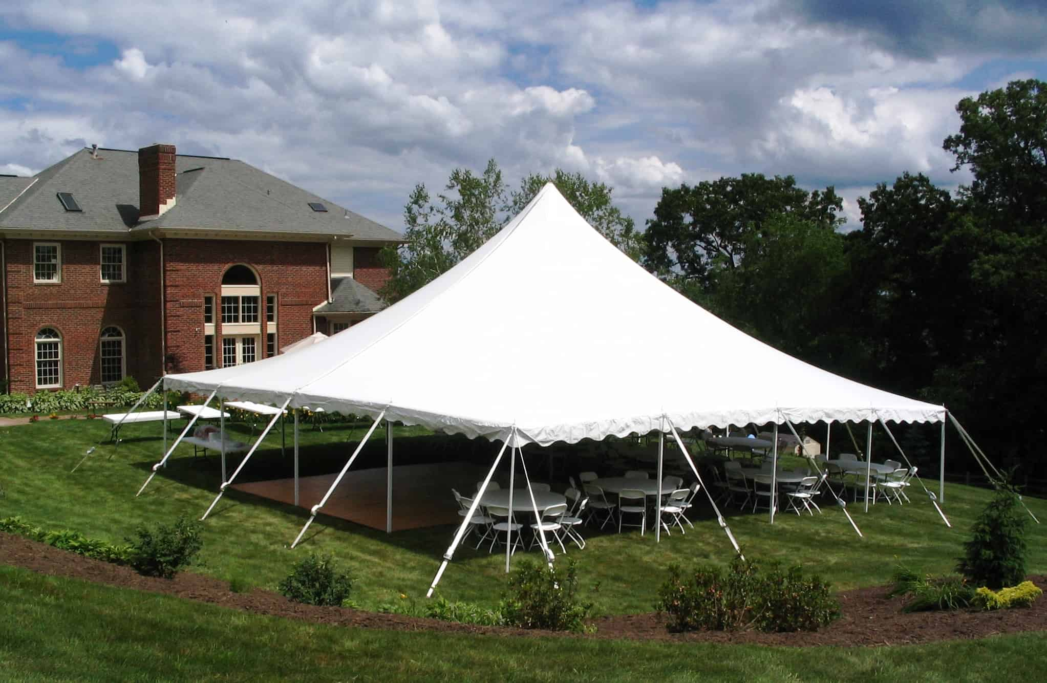 From Outdoor Tents Tables And Chairs To Lighting Staging The Dance Floor Our Rental